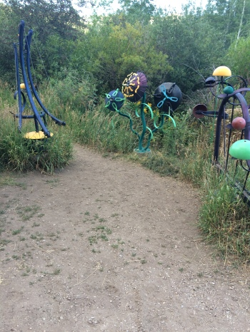 Art on the path at Park City